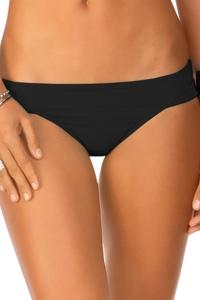 Eco Peace Solid Black Hipster Bikini Bottom