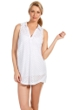 Eco Swim White Jacquard Collared Tunic