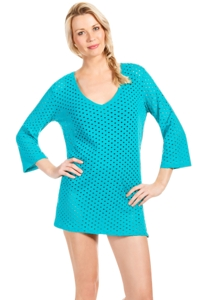Eco Swim Surf Jacquard 3/4 Sleeve Tunic