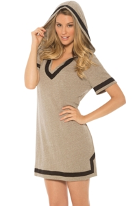 Eco Swim Khaki Hooded Tunic