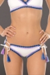 Becca by Rebecca Virtue Scenic Route White Crochet Hipster Bikini Bottom