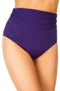 Miraclesuit Eggplant Shirred Tankini Bottom