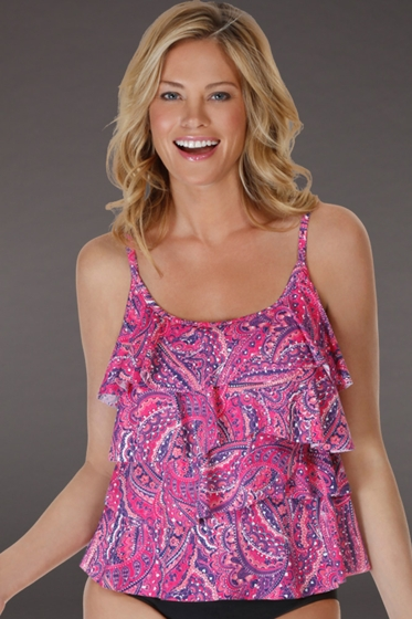 Miraclesuit Tinted Love DD-Cup Tiering Up Tankini Top