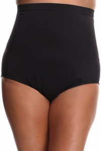 Miraclesuit Black Plus Size High Waist Brief Swim Bottom