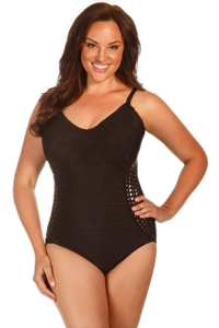 Magicsuit Stud Muffin Plus Size Lauren One Piece Swimsuit