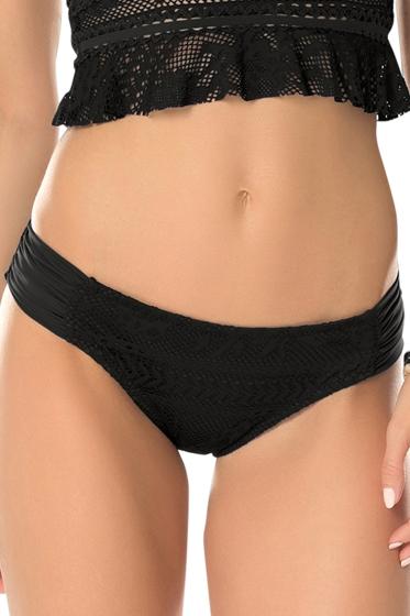 Becca by Rebecca Virtue Prairie Rose Black America Bikini Bottom