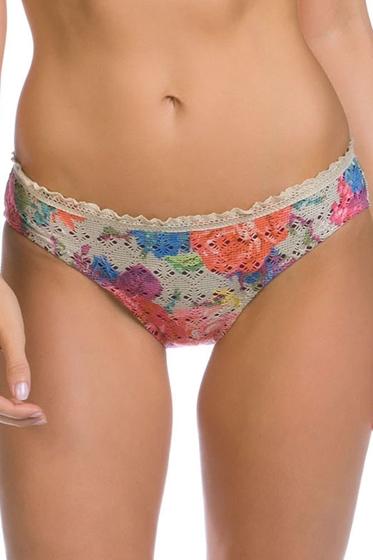 Becca by Rebecca Virtue English Garden Natural Crochet Scallop American Hipster Bikini Bottom