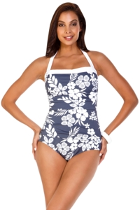 Shape Solutions Second Nature Halter One Piece Swimsuit