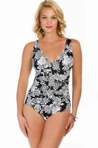 Penbrooke Intermingle Shirred One Piece Swimsuit
