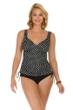Penbrooke Neutral Spot Adjustable Side Tie Fauxkini One Piece Swimsuit