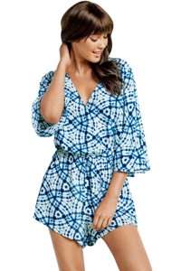 Seafolly Bahama Blue Deep V Romper