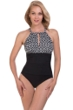 Penbrooke Double Diamond High Neck One Piece Swimsuit