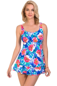 Penbrooke Garden Beauty Ruffle Swimdress