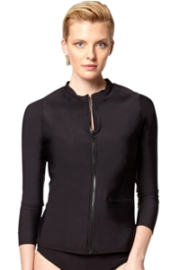 PB Sport Solid Black Long Sleeve Rash Guard
