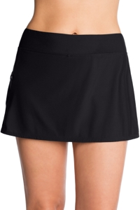 Shape Solver Black Skirt with Zipper Pocket