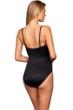 Magicsuit Solid Black Blaire Underwire Fringe One Piece Swimsuit