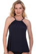 Magicsuit Navy Golden Opportunity Marni High Neck Underwire Tankini Top
