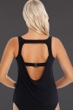 Magicsuit Black Reese Cowl Back Tankini Top