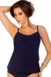 Magicsuit Navy DD-Cup Chloe Tiered Tankini Top