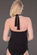 Magicsuit Solid Black Cybil High Neck Halter Underwire Side Tie Blouson Tankini Top