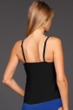Magicsuit Solid Black Rita Triple Tier Tankini Top