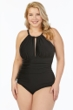 Magicsuit Black Katrina Plus Size Keyhole High Neck One Piece Swimsuit