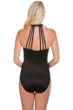 Magicsuit Solid Black Danika Strappy Back Underwire One Piece Swimsuit