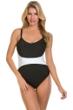 Magicsuit Black White Color Block Serena One Piece Swimsuit