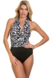 Magicsuit Zooloo Yves Plunge Halter One Piece Swimsuit