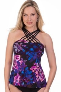 Magicsuit Divine Morgan Strappy High Neck Tankini Top