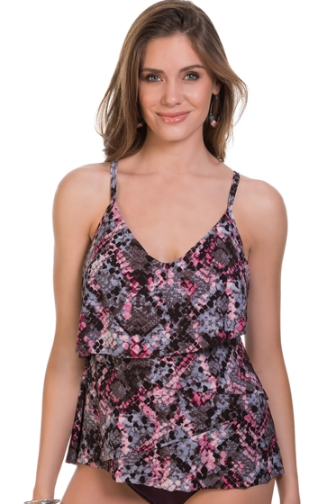 Magicsuit Python Chloe Lingerie Tiered Tankini Top