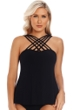 Magicsuit Black Morgan Strappy High Neck Tankini Top