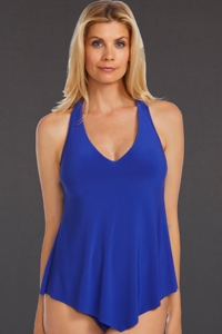 Magicsuit Twilight Blue Underwire Taylor Racerback Tankini Top