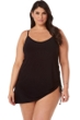 2-in-1 Magicsuit Black Brynn Underwire Adjustable Sides Plus Size Swimdress