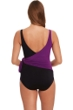 Magicsuit Amethyst Purple and Black Misty Tie Front One Piece Swimsuit