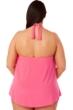 Magicsuit Watermelon Pink Plus Size Sophie Halter Cowl Neck Underwire Tankini Top