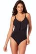 Magicsuit Black Isabel Ruffle Underwire One Piece Swimsuit