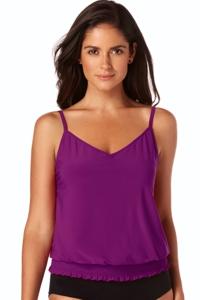 Magicsuit Amethyst Purple DD-Cup Justina Blouson Tankini Top