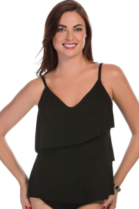 Magicsuit Black Chloe Layered Tankini Top