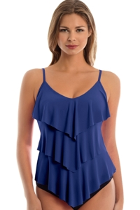 Magicsuit Midnight Blue Rita Triple Tier Tankini Top