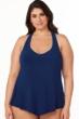 Magicsuit Midnight Blue Plus Size Taylor Racerback Underwire Tankini Top