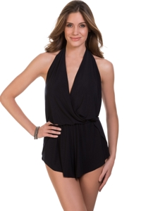 Magicsuit Black Bianca Swim Romper One Piece Swimsuit