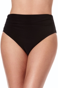 Magicsuit Black Jersey Brief Shirred Tankini Bottom