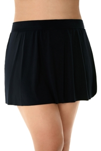 Magicsuit Black Plus Size Swim Skirt