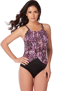 Magicsuit Snake Charmer Lisa High Neck Underwire One Piece Swimsuit