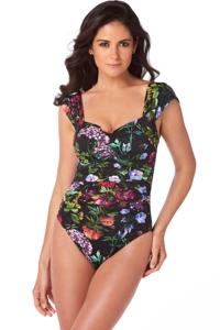 Magicsuit Modern Romance Natalie Off the Shoulder One Piece Swimsuit