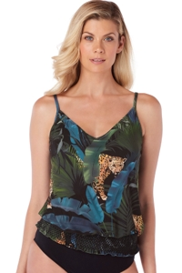 Magicsuit Copy Cat Justina Blouson Tankini Top