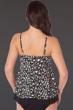 Magicsuit Bermuda Triangle Black and White Underwire Jolene Layered Tankini Top