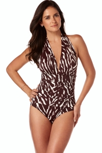 Magicsuit On Safari Claudia V-Neck One Piece Swimsuit