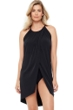 Magicsuit Black Cover Up Drape Dress